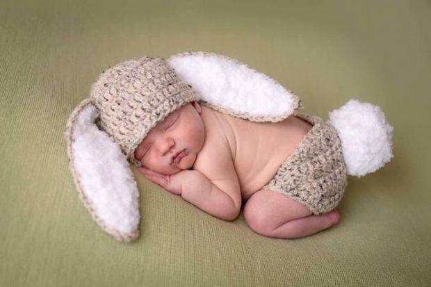 Crochet Baby Hat Easter Bunny Rabbit Ears Pattern by LocustTree