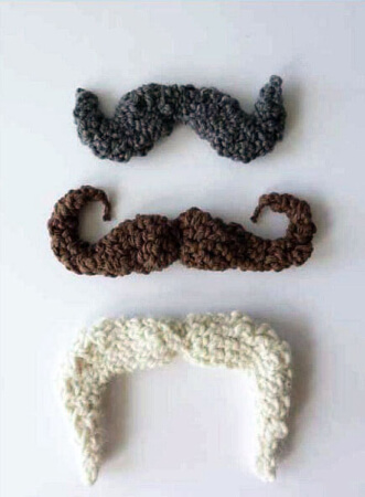 Crochet Mustache Pattern Free from Craft Foxes