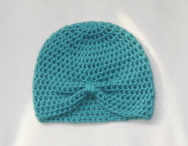 Crochet Turban Beanie Hat Pattern by CraftyNarwhals