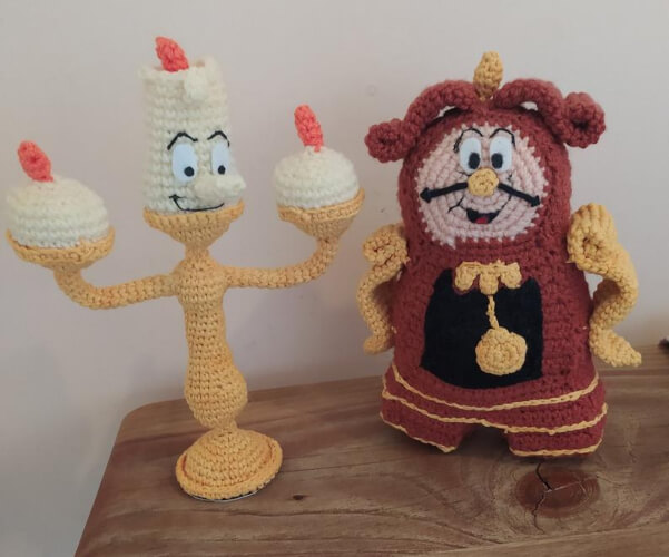 Din Don Beauty and the Beast Crochet Patterns by Marcelaspatterns