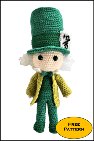 Free Mad Hatter Amigurumi Pattern from Daisy and Storm