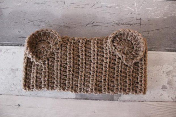 Teddy Bear Headband Crochet Ears Pattern from ChummyMummyDevon