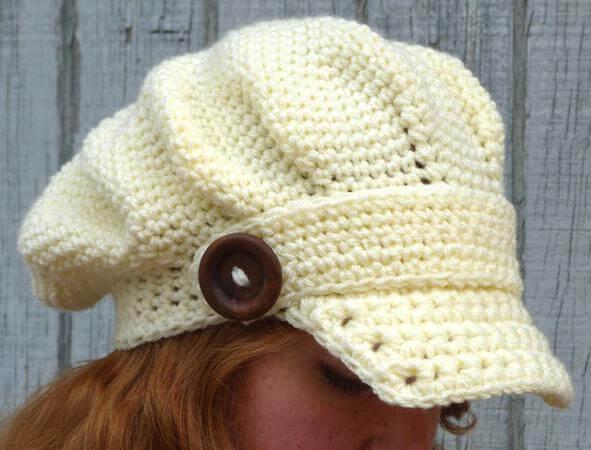 Arctic Edge Brimmed Beret Crochet Pattern by Crochet Spot Patterns