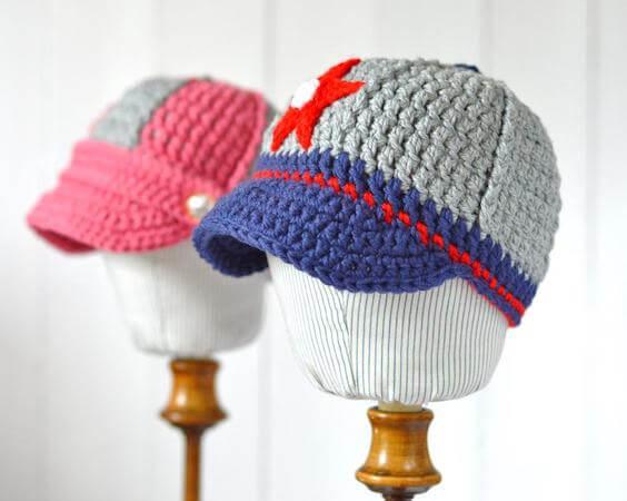 Baby Baseball Cap Crochet Pattern by Matilda's Meadow