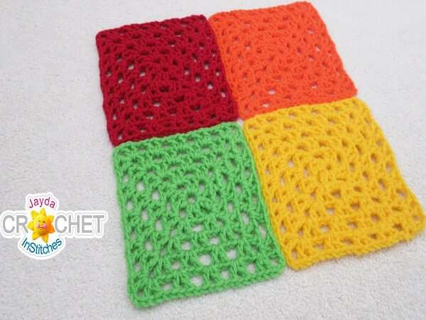 Beginner Crochet Square Pattern by Jayda In Stitches