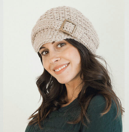 Classic Beret Free Crochet Cap Pattern by Megmade With Love