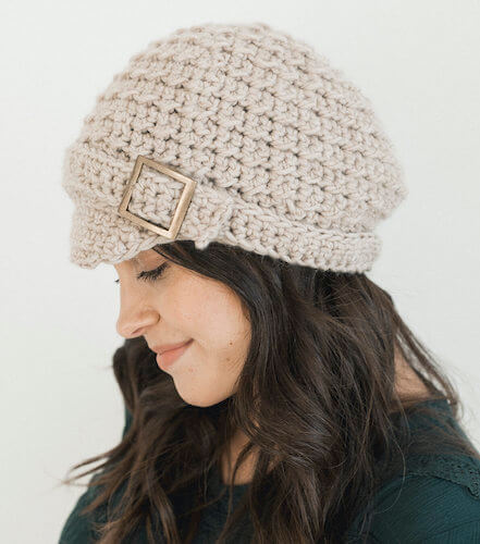 Classic Beret Cap Free Crochet Pattern by Megmade With Love
