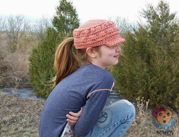 Cordial Cadet Cap Free Crochet Pattern by Cre8tion Crochet