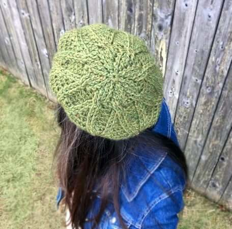 Crochet Cabled Beret Pattern by Knit And Crochet Ever After