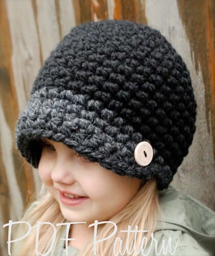 Crochet Easton Cap Pattern by The Velvet Acorn