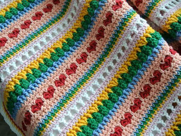 Crochet Heart Bedspread Pattern by My Beautiful Stuff