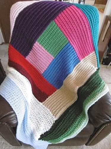 Crochet Log Cabin Blanket Pattern by Princely By Marilyn