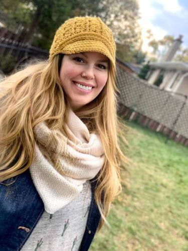 Newsboy Crochet Cap Pattern by Pretty Darn Adorable