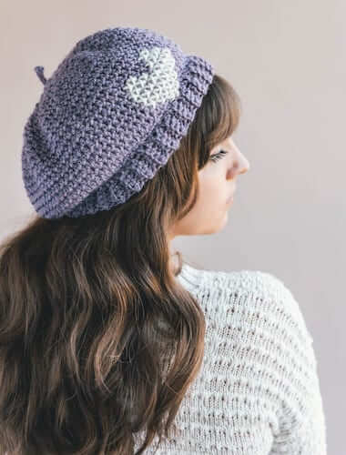 Crochet Parisienne Beret Pattern by Sewrella