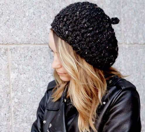 Crochet Slouchy Beret Pattern by Two Of Wands