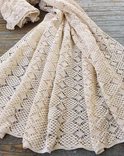 Spider Lace Bedspread Crochet Pattern by Maggie's Crochet