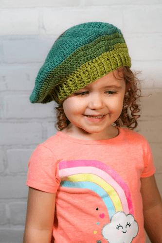 Easy Beret Crochet Pattern by Winding Road Crochet