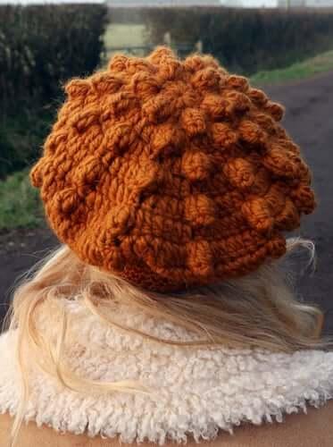 Evie Beret Free Crochet Pattern by Lulu Loves