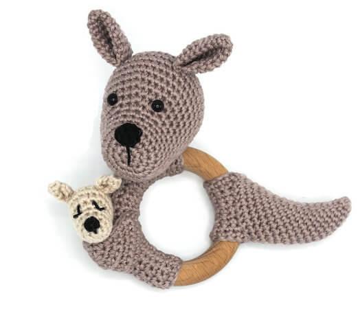 Kangaroo Rattle Crochet Pattern by KNUFL