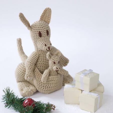 Mama Kangaroo And Joey Crochet Pattern by Yarnspirations