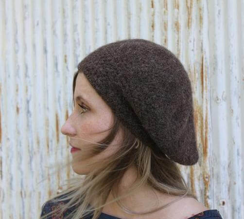 Marseille Felted Beret Crochet Pattern by The Madame Hatter
