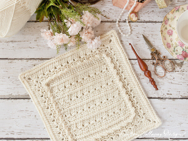 Primrose & Proper Ruffled Granny Square Crochet Pattern by Kirsten Holloway Designs