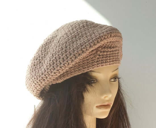 Quick Beret Crochet Pattern by Beaded Wire