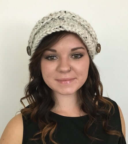 Ribbed Newsboy Cap Crochet Pattern by Made With A Twist