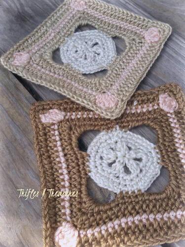Sandbar Granny Square Crochet Pattern by Trifles & Treasures