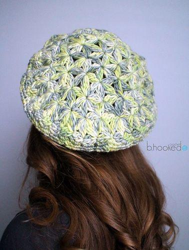 Starburst Beret Crochet Pattern by B.Hooked Crochet