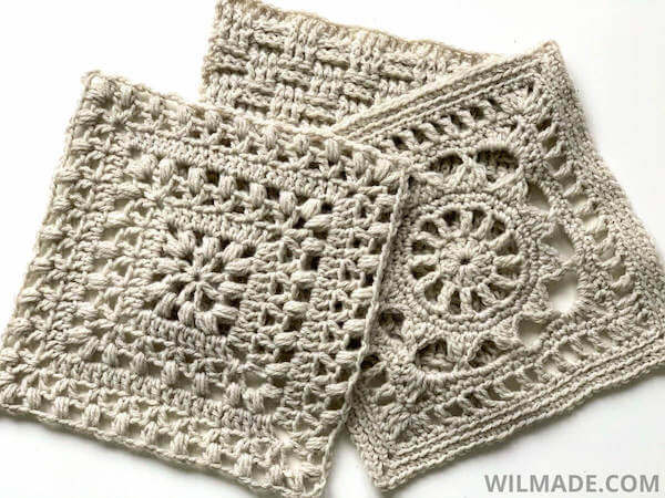 Traveling Crochet Afghan Square Pattern by Wilmade