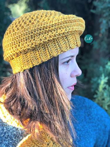 Women's Crochet Beret Pattern by Christa Co Design