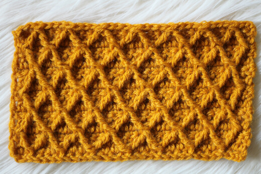 Crochet Diamond Lace Stitch
