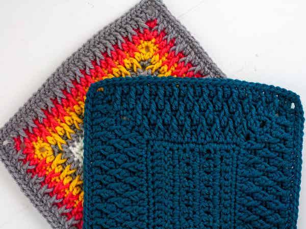Alpine Stitch Crochet Blanket Border by Winding Road Crochet