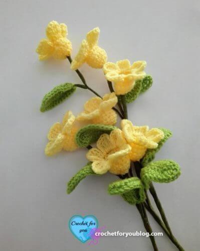 Crochet 3D Flower Bouquet Pattern by Crochet Pattern Bonanza