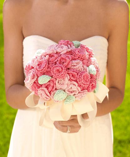 Crochet Bridal Nosegay Bouquet Pattern by Crochet Kingdom
