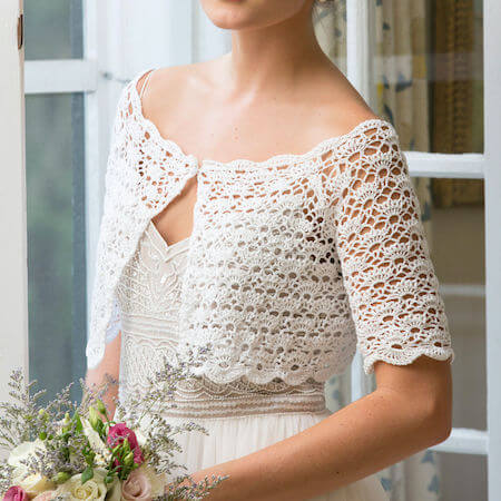Crochet Bridal Topper Pattern by Yarnspirations