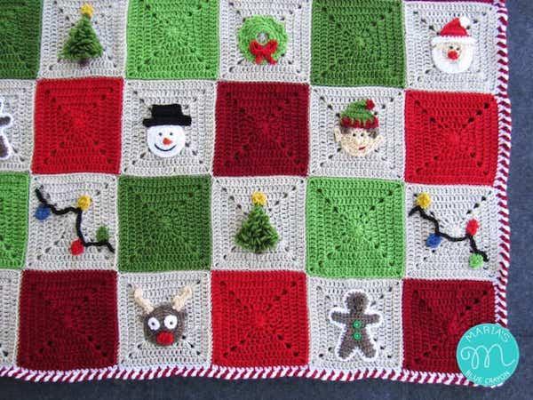 Crochet Candy Cane Stripe Border by Maria's Blue Crayon