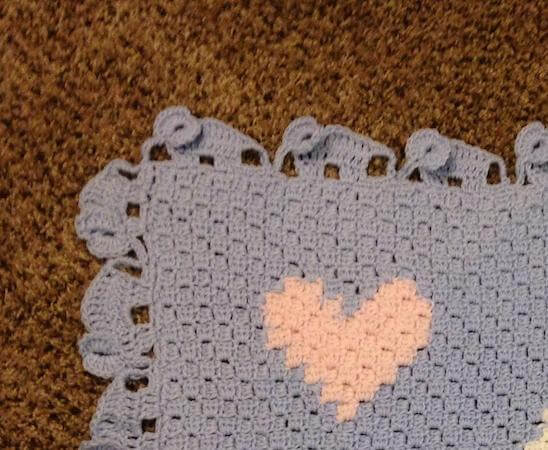 Elephant Parade Blanket Edging Crochet by Allyssabeth's Crochet