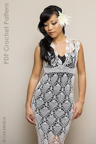 Bridal Crochet Lace Wedding Dress Pattern by ChiK Designs