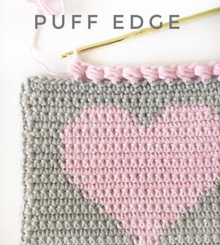 Crochet Puff Edge Stitch by Daisy Farm Crafts
