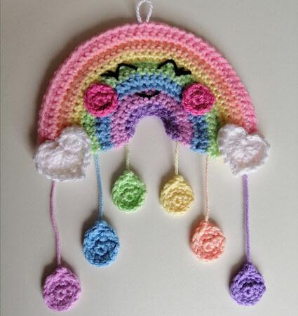 Crochet Rainbow Showers Pattern by Lisa Hooper