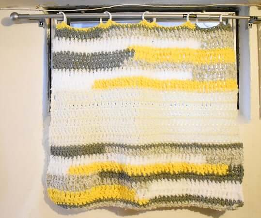 Crochet Statement Curtain Pattern by Infiniti Crafting Co