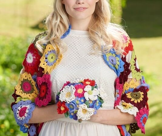 Crochet Wedding Bouquet Pattern by Gathered