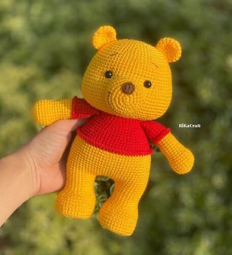Crochet Winnie The Pooh Pattern by Ri Ka Craft VN