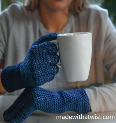 Fit Lite Easy Crochet Gloves Pattern by Made With A Twist