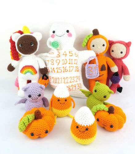 Free Halloween Amigurumi Set Pattern by Stringy Ding Ding