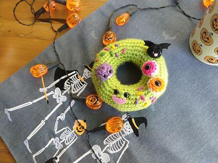 16. Halloween Donut Amigurumi Pattern by Amigurumi Food