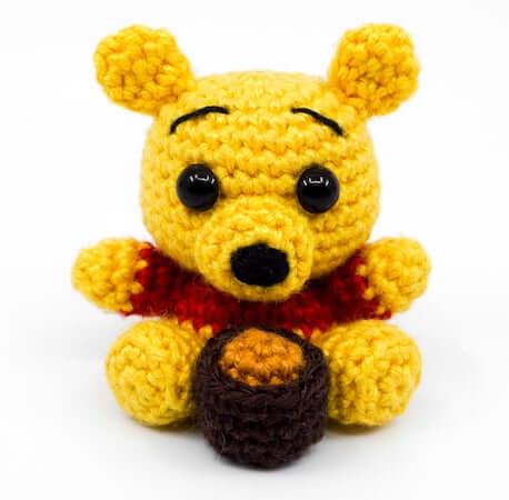 Mini Winnie The Pooh Crochet Pattern by Supergurumi Shop