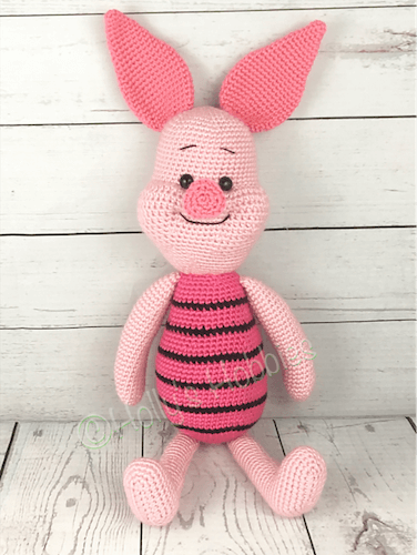 Piglet, The Pig Crochet Pattern by Holly's Hobbies